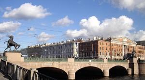 Anichkov Bridge, St. Petersburg, Russia