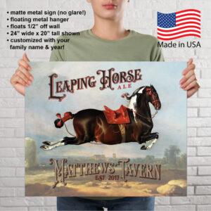 Cerbero Custom Leaping Horse Bar Sign
