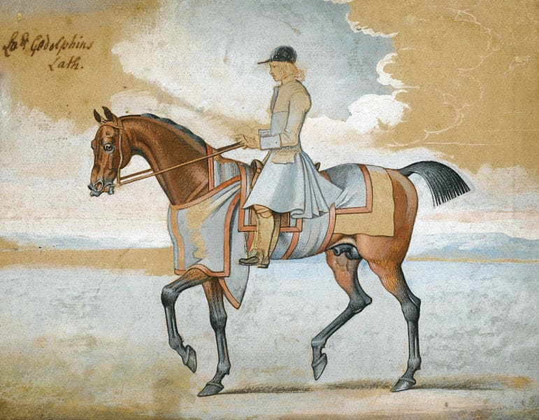 Lord Godolphin's Lath, watercolor and pencil by James Seymour.