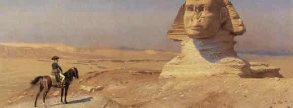 Napoleon Bonaparte Before the Sphinx