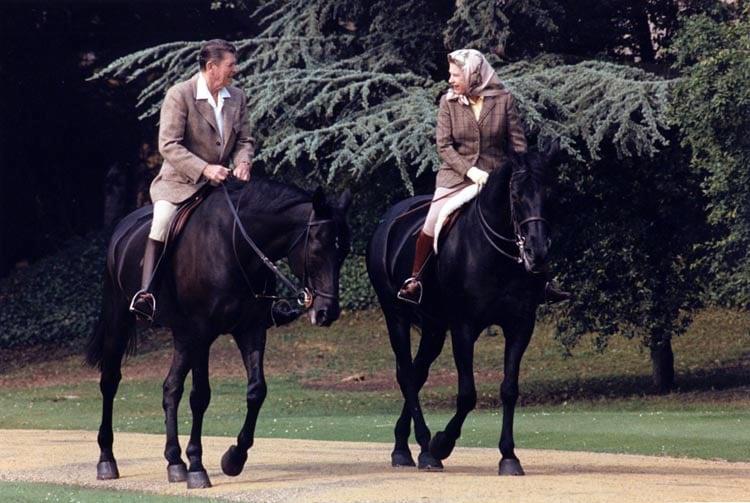 Celebrities horses william shatner queen elizabeth ii for Where to go horseback riding near me